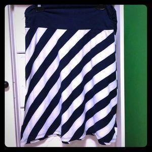 striped midi skirt Faded Glory M(8-10)